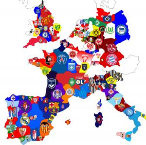 MapaClubesEuropa